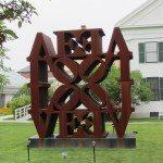 Larger art piece of the Love sculpture