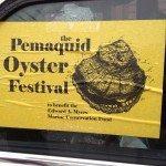A car bumper sticker advertising the Pemaquid Qyster Festival