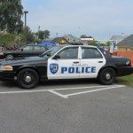 Police cruiser in Rockland, Maine