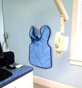 Why do we use lead aprons when taking dental x-rays?