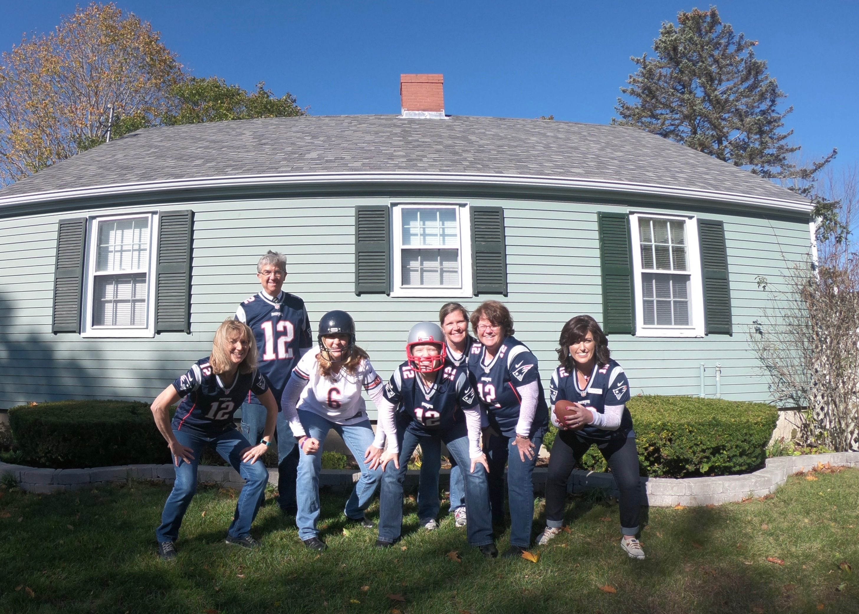 Cheering for the home team. Go New England Patriots!