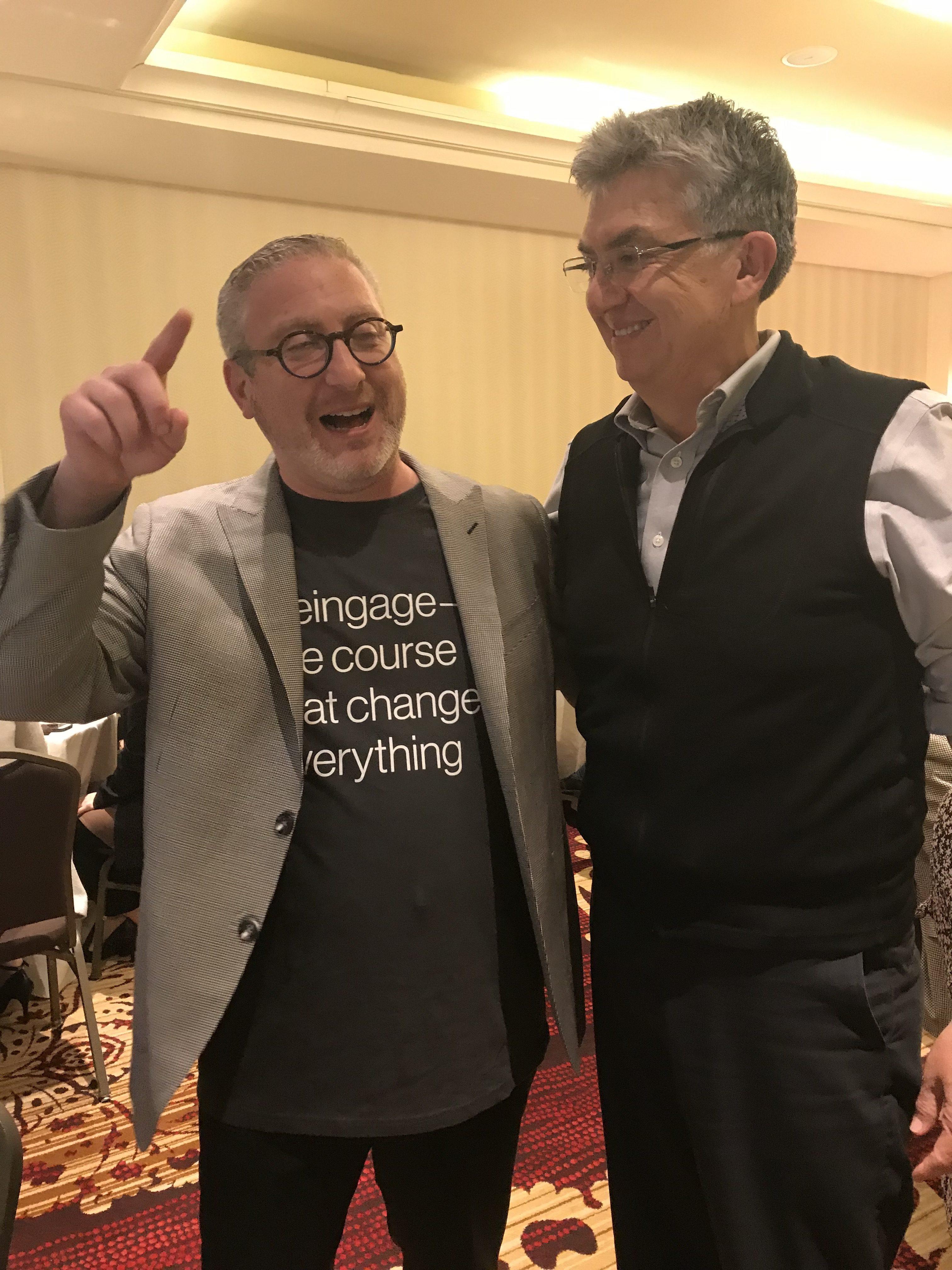 Dr. Galler visits with Dr. Medina at Reingage, Newark NJ 4/11/2018