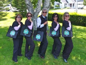 Jackie Onassis Rocking the Reusable Grocery Bags in Camden Rockland Rockport Maine