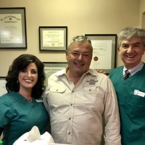 Sam Patterson after undergoing cosmetic dentistry treatment